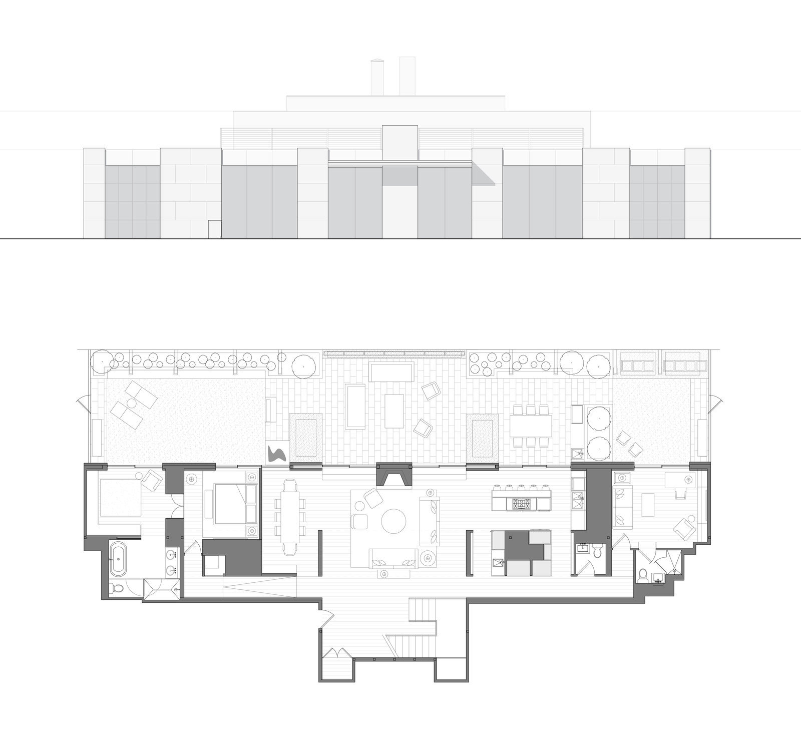 Penthouse plan and elevation sm 1600 xxx q85